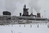Beeck - Blick zu ThyssenKrupp mit neuem Hochofen
