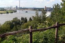 Juli 2006 - Idylle im Duisburger Norden - der Alsumer Berg. Die frühere Mülldeponie wurde begrünt und bietet jetzt einen schönen Blick über den Niederrhein, aber auch über die Industrieanlagen.