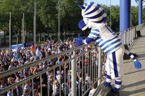 Juli 2013 - Das gab es noch nie! Über 2000 Fans des MSV Duisburg feiern die Rettung des Vereins und damit nach Wochen des Hoffens und Bangens den Abstieg in die 3. Liga - und ich ändere das Bild des Monats. Eine neue Liga ist wie ein neues Leben...