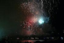 September 2007 - Das 14. Ruhrorter Hafenfest war das bisher größte Fest im Hafenstadtteil. Zum Auftakt gab es wie immer ein großes Feuerwerk rund um die Rheinbrücke.