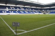 Juli 2013 - Ein Bild mit Symbolcharakter - die leere Schauinsland-Reisen-Arena. Der MSV Duisburg steigt aus der 2. Liga ab - der Start in der 3. Liga aber ist ungewiss. Die Insolvenz schwebt als Damoklesschwert über Duisburgs früherem Vorzeigeverein.