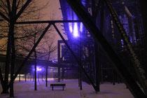 Landschaftspark Nord - frischer Schnee an altem Eisen