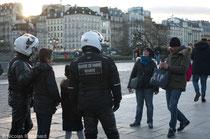 Etat d'Urgence, parvis Notre-Dame, Paris, Février 2016