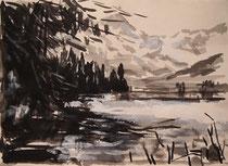 landscape,tuschmalerei Nr.2