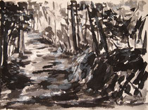 Through The Forest, Tuschmalerei