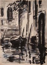 Venice,Tuschmalerei