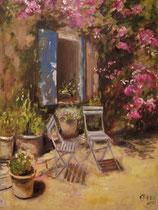 Window To The Garden  Öl_Lwd.60x80cm