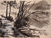 Landscape ,Tuschmalerei Nr. 3