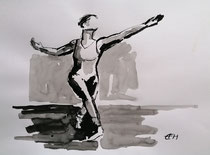 Dancer  Tusche/Papier36x48cm