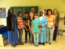 ...um den Schwestern ein Bild von dem deutschen Unterricht in einer hörenden Schule zu vermitteln.