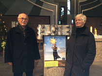 Gerhard Ehrenreich mit Gerlinde Koch, einer tatkräftigen Unterstützerin des Projekts.