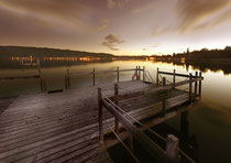 Strandbad Ludwigshafen bei Sonnenuntergang 120717-002V