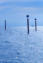 Langenargen, Segelboot vor der Argenmündung 111103-002H