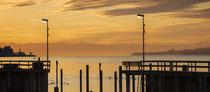 Sipplingen, Hafeneinfahrt in der Morgendämmerung 200130-047P