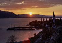 Sipplinger Hafen im Sonnenuntergang 170407-079V