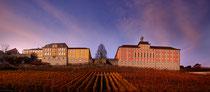 Staatsweingut Meersburg und neues Schloß Meersburg im helbstlichen Abendlicht 151108-070