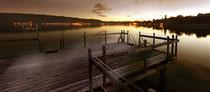 Strandbad Ludwigshafen bei Sonnenuntergang 120717-002P