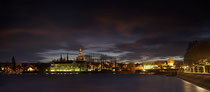 Konstanz Seerhein,  Blick auf abendliche Altstadt 162803-072