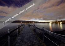 Strandbad Ludwigshafen, Badesteg nach Sonnenuntergang 081110-001 Limitierte Auflage, leider ausverkauft.