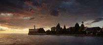 Langenargen Schloß Montfort im Sonnenuntergang 190802-156