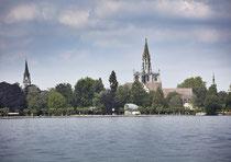 Konstanz, Blick auf das Münster vom See aus 190617-296V