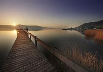 Sonnenaufgang im Strandbad Bodman 130508-094V