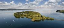 Luftaufnahme der Insel Mainau mit Blick auf den Obersee 190617-001