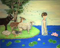 The Animals are watching  80.3×100cm 2017  Mosan Art Museum Collection