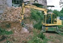 Arbeiten im Burggraben