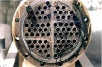 Derselbe Röhren-Wärmetauscher nach 16-wöchigem Einsatz eines Hydroflow C 120 Kalkschutzgerätes.