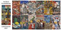 Kunstkalender 2021, Deckblatt und Innenblätter