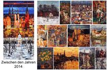 Kunstkalender 2014, Deckblatt und Innenblätter
