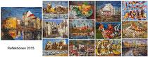 Kunstkalender 2015, Deckblatt und Innenblätter