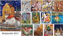 Kunstkalender 2017, Deckblatt und Innenblätter