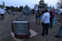 erste Gäste an den Teleskopen