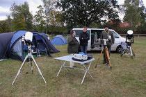 Naturwissenschaftlicher Verein Osnabrück e.V. , die Zelte sind aufgebaut , die Teleskope stehen