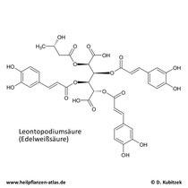 Leontopodiumsäure (Edelweißsäure) Strukturformel