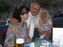 Nicole et moi avec en charmante compagnie notre président si sympathique Alain Bideaux