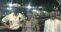 Alain Bideaux et moi  avec un garde de la principauté de Monaco!