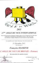 Diplome  de l'Aigle de Nice de bronze
