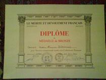 Diplome du mérite et dévouement Français