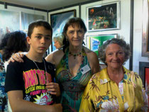 Avec mon petit fils Grégory et Marthe Villalonga