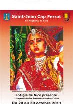 L'indienne:  Affiche pour expo à Saint Jean Cap Ferrat