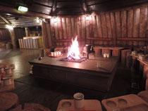 Mit Feuer auch immer schön warm :)
