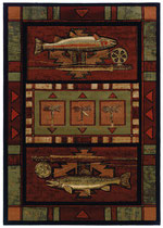 ラグ Rugs-512-25429-rainbow-trout-terracotta-5