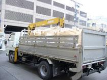 事前にペットボトルキャップおおよそ15万個450kgを豊田興産リサイクルセンターさんにお借りした。