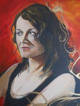 Tanja       80 x 60 cm Doppelportrait  Acryl
