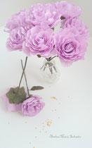Bouquet de roses en papier crépon -création atelier Maria'S