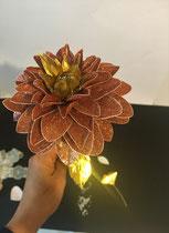 Fleur pailleté rose
