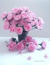 Bouquet de roses en papier création atelier Maria'S